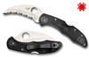 SPYDERCO TASMAN SALT 2, H-1 BLADE STEEL, BLACK FRN HANDLE, CUTLERY SHOPPE