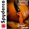 SPYDERCO C122GPBOR ORANGE G-10 TENACIOUS. CUTLERY SHOPPE EXCLUSIVE. www.cutleryshoppe.com