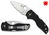 "Spyderco C230MBGS Lil' Native Back Lock - 2.47"" CPM-S30V Serrated Edge Blade - Black G-10 Handle"
