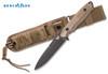 Benchmade 140BKSN Nimravus - BK1 Coated 154CM Blade - Plain Edge - Coyote Color Handle Scales - CUTLERY SHOPPE