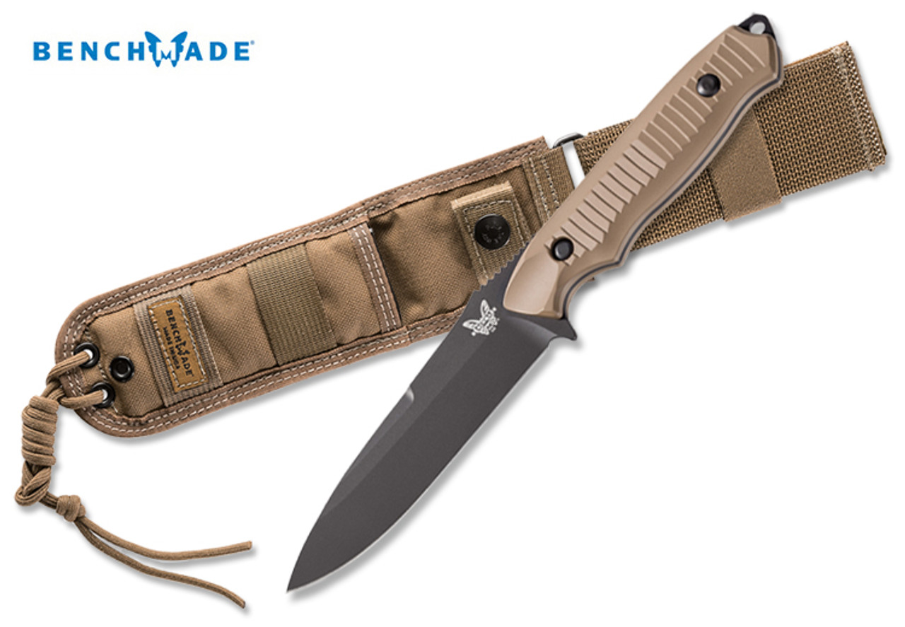 benchmade 140bksn nimravus bk1 coated 154cm blade plain edge