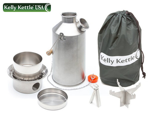 KELLY KETTLE MODEL 50045 STAINLESS STEEL LARGE 1.5 LITER COOK KETTLE BASIC KIT. CUTLERY SHOPPE.COM