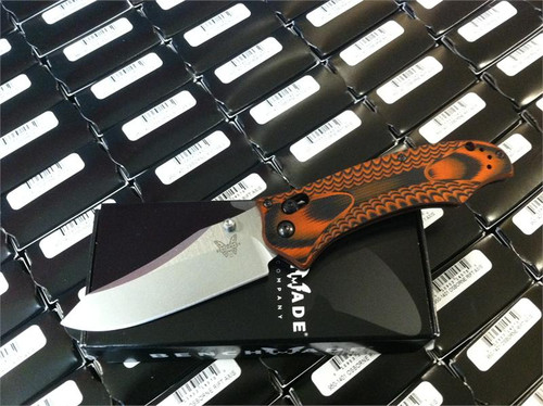 Benchmade 950-1401 Osborne AXIS Rift - Layered Black/Orange Textured G-10 Scales - CPM-S30V Plain Edge Satin Finish Blade - CUTLERY SHOPPE EXCLUSIVE - SOLD OUT