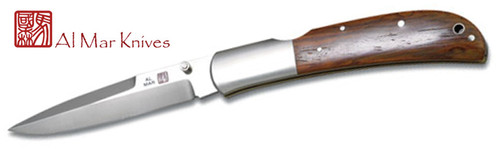 "AL MAR KNIVES EAGLE TALON CLASSIC MODEL 1005CT. 4.0"" TALON SHAPE BLADE. STAINLESS STEEL BOLSTERS WITH COCOBOLO HANDLE SCALES. CUTLERY SHOPPE"