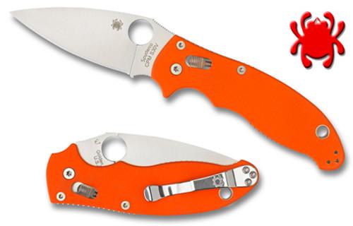 spyderco c101gpor2 manix 2 ffg cpm s30v orange g 10 scales