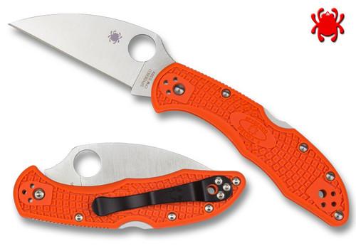 SPYDERCO C11FPWCOR WHARNCLIFFE DELICA 4, CPM-S30V BLADE, ORANGE FRN HANDLE, CUTLERY SHOPPE EXCLUSIVE, www.cutleryshoppe.com