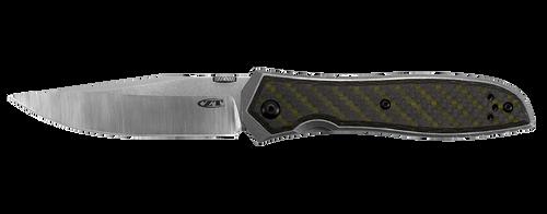 "Zero Tolerance 0640 Emerson - 3.75"" CPM 20CV Blade - Stonewash Titanium Handle w/Green Carbon Fiber Overlay"