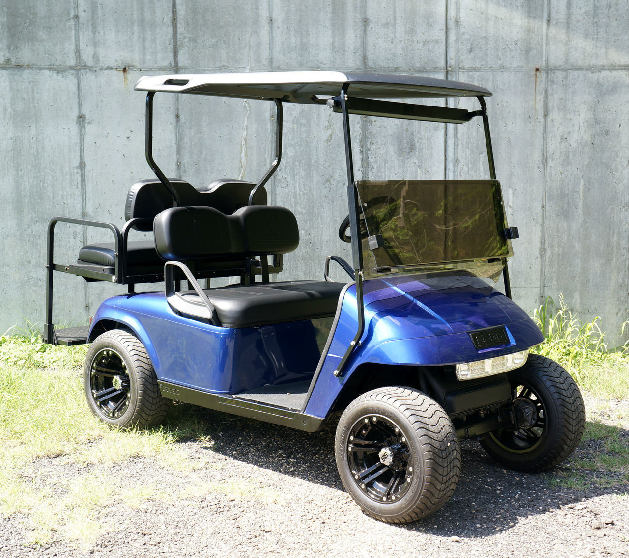 Electric Motor Kits For Golf Carts: Custom Electric Blue EZGO 48 Volt Electric TXT 4 Passenger