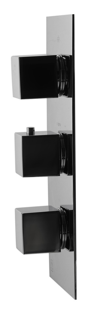 Alfi Brand AB2901-PC Polished Chrome Concealed 4-Way Thermostatic Valve Shower Mixer /w Square Knobs