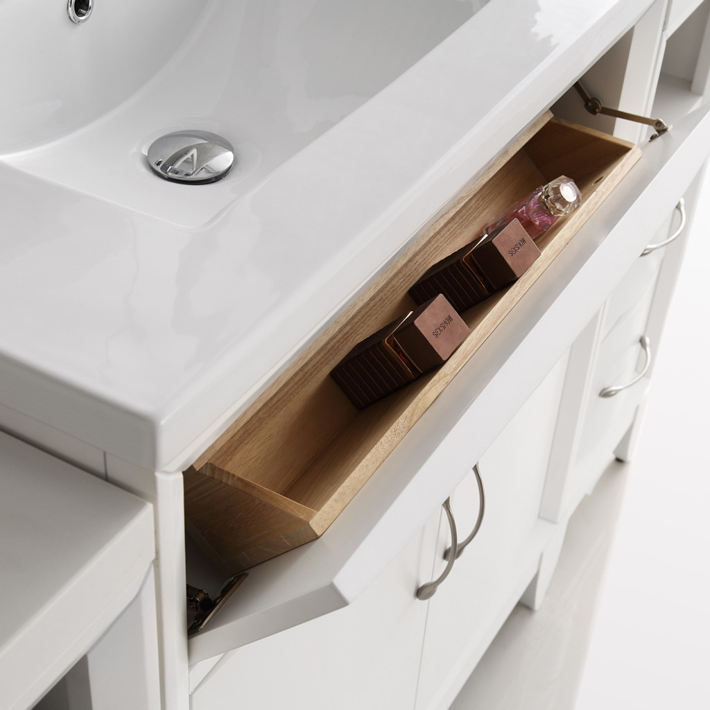 contemporary modern bathroom fresca cambridge 60 quot white sink traditional 12482