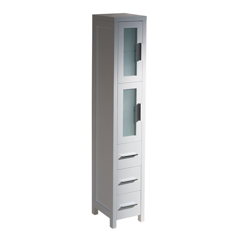 bathroom side cabinet fst6260wh fresca torino white bathroom linen side 11647