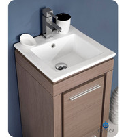 Fvn8118go Fresca Allier 16 Quot Gray Oak Modern Bathroom