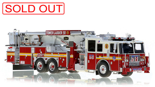 1:50 scale museum grade replica of FDNY Tower Ladder 58