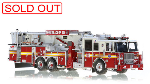 1:50 scale museum grade replica of FDNY Tower Ladder 119
