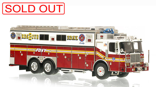 1:50 museum grade scale model of FDNY Rescue 2