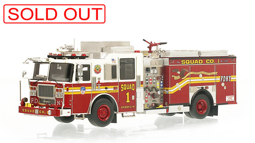 1:50 museum grade scale model of FDNY Squad 1