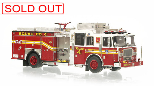 1:50 museum grade scale model of FDNY Squad 41