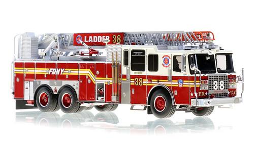 1:50 museum grade scale model of FDNY Ladder 38