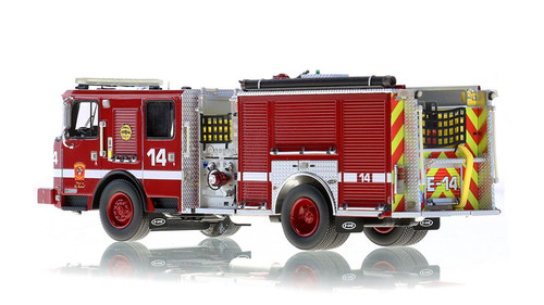 1:50 museum grade scale model of Boston Engine 14