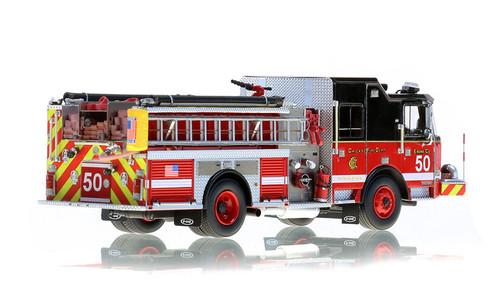 1:50 scale museum grade replica of Chicago Fire Department E-One Engine 50