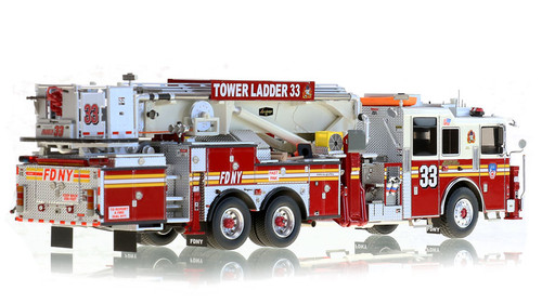 1:50 scale museum grade replica of FDNY Tower Ladder 33
