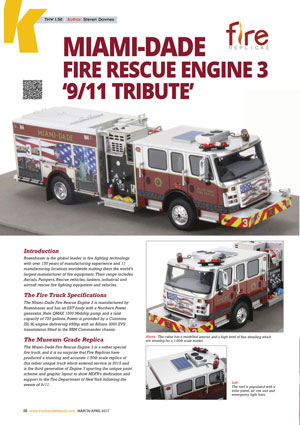 Miami-Dade Engine 3 Featured in Truck Model World, U.K.