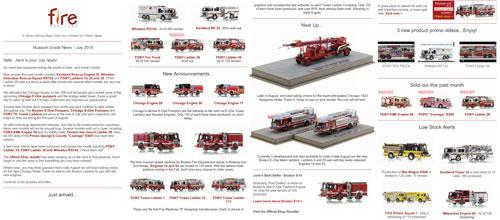 Fire Replicas July 2018 Newsletter