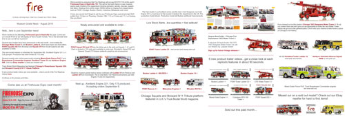Fire apparatus scale model news - September, 2018