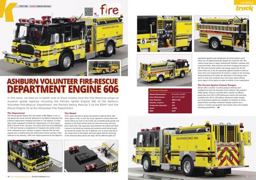 """Ashburn VFRD """"War Wagon"""" E606 featured in Truck Model World Magazine"""