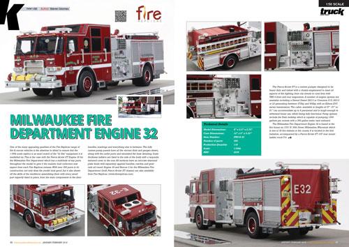 Truck Model World, U.K. features Fire Replicas Milwaukee Engines