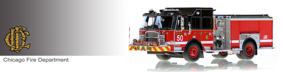 Chicago Fire Department E-One Engine 50 scale model