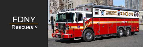 Shop FDNY Rescue scale model fire trucks