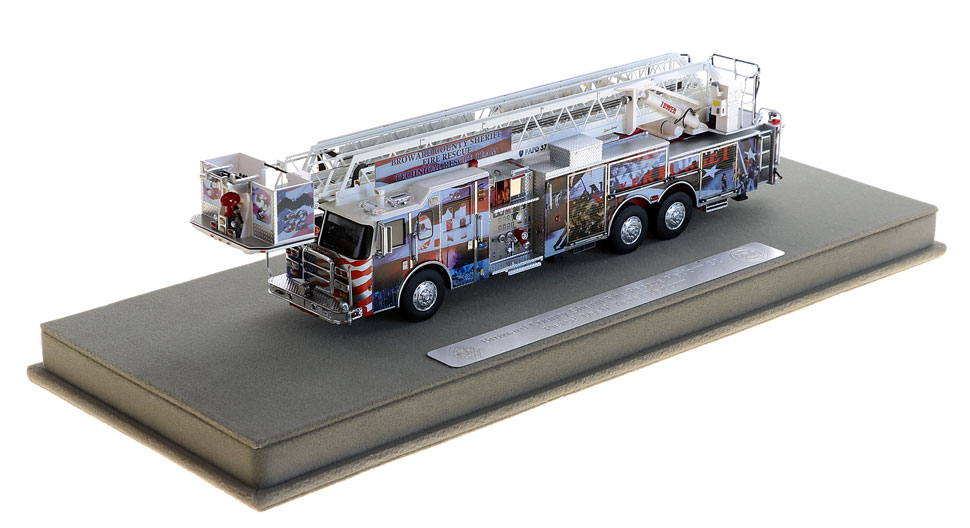 Truck 32 includes a fully custom display case.