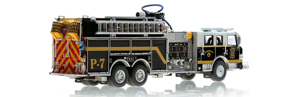 Jack Daniel's Fire Brigade P-7 Scale Model is 100% Genuine