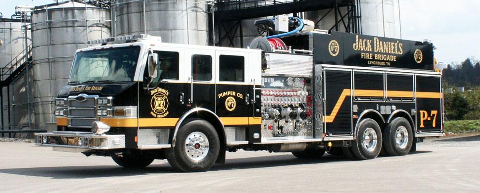 Jack Daniel's Fire Brigade P-7 Real Truck