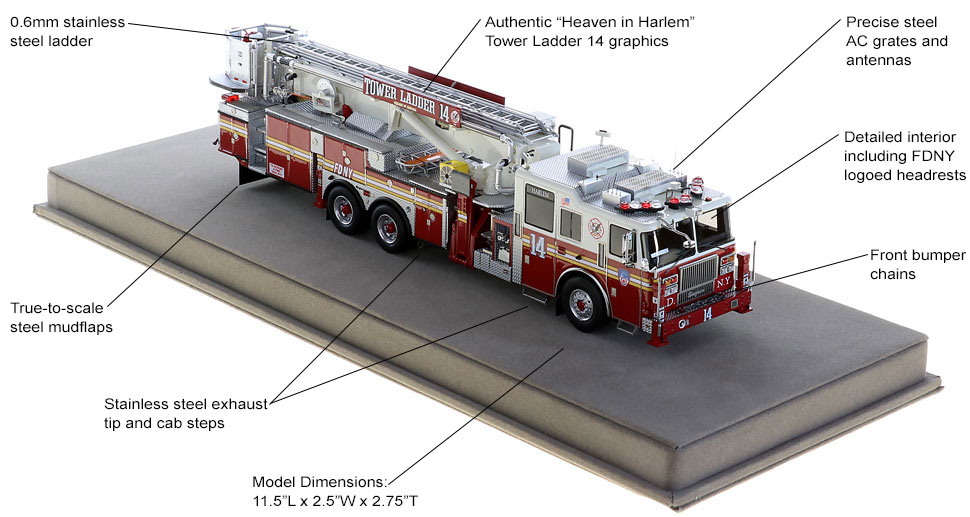 Order your FDNY Tower Ladder 14 today!