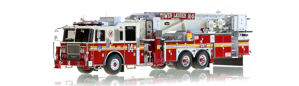 1:50 scale model for Heaven in Harlem Tower Ladder 14