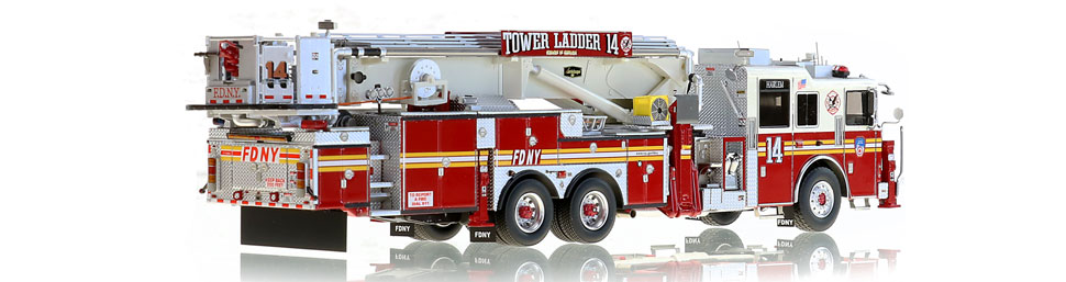 FDNY Tower Ladder 14 is hand-crafted using over 820 parts.