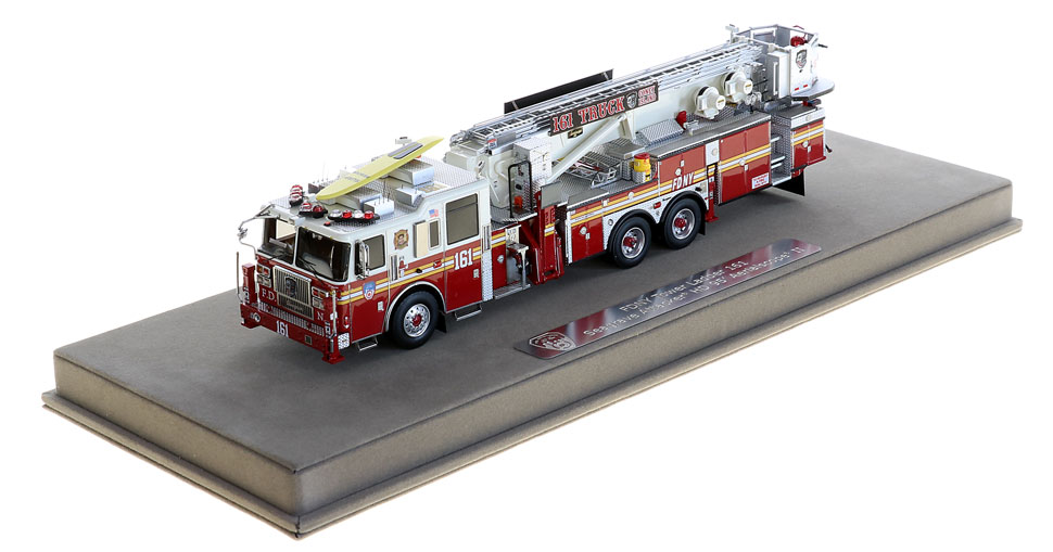 FDNY Tower Ladder 161 includes a fully custom display case!