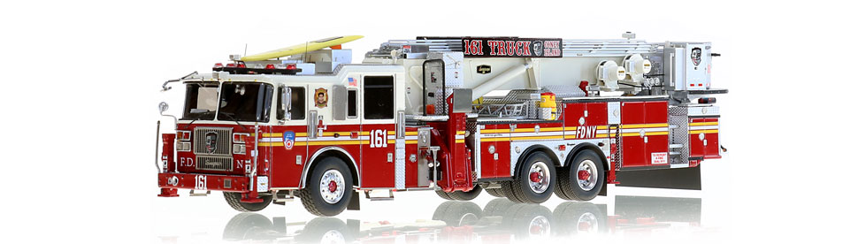 1:50 scale model of Brooklyn's Tower Ladder 161