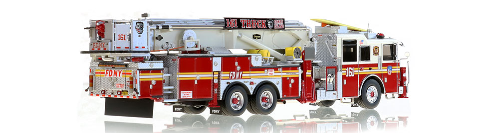 FDNY Tower Ladder 161 is hand-crafted using over 820 parts.