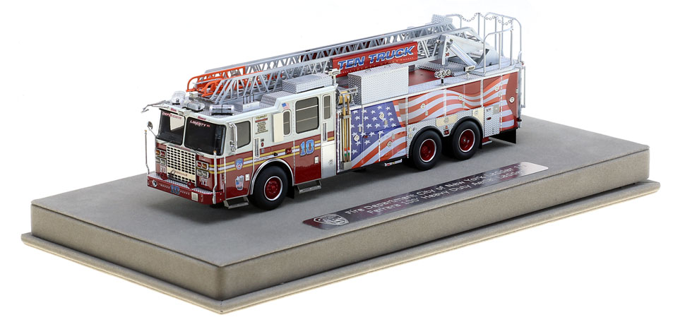 FDNY Ladder 10 includes a fully custom display case