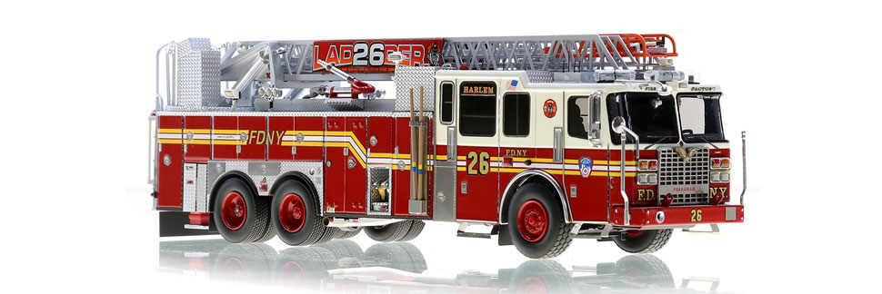The first museum grade FDNY Ladder 26 scale model