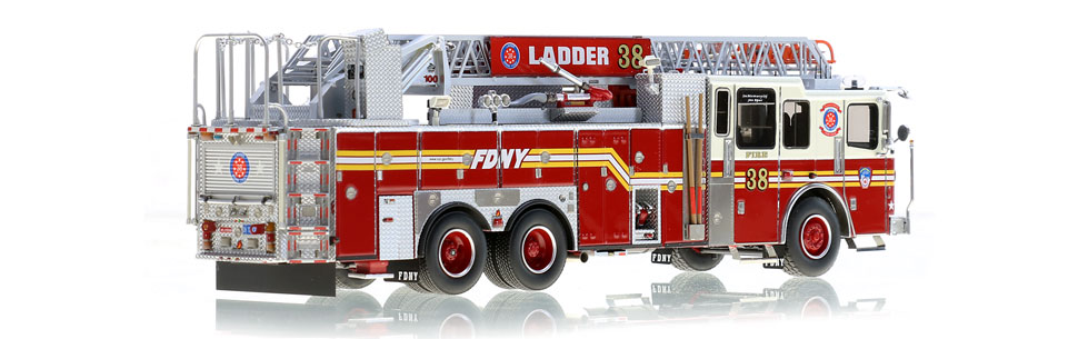 Authentic to FDNY Ladder 38 in every detail.