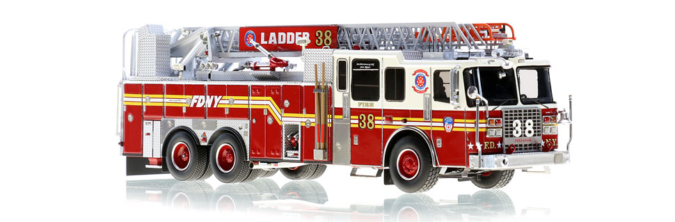 Ladder 38 features a precise, 0.6mm stainless steel ladder