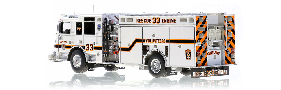 Kentland Rescue Engine 33 features authentic details.
