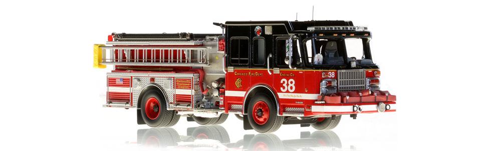 Chicago Engine 38 features museum grade details