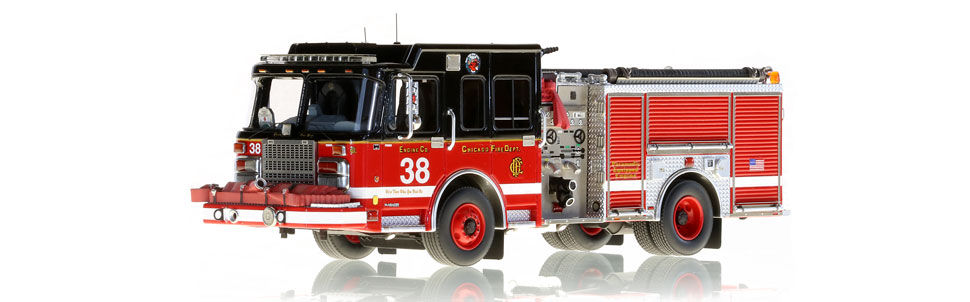 Chicago Engine 38 is an authentic 1:50 scale model