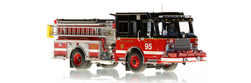 Chicago Engine 95 is an authentic scale model