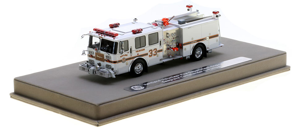 Kentland Engine 331 scale model includes a custom display case